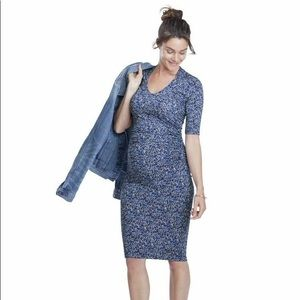 Isabella Oliver liberty print maternity dress